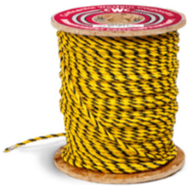 Yellow and Black 3-Strand Polypropylene Rope - The Pig Pen Inc.